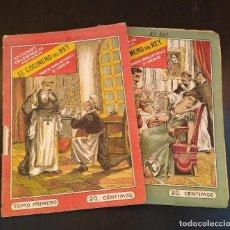 Libros antiguos: EL COCINERO DEL REY. EPISODIOS CÉLEBRES DE ESPAÑA. 2 TOMOS. COMPLETO. MUY RARO. Lote 165414682