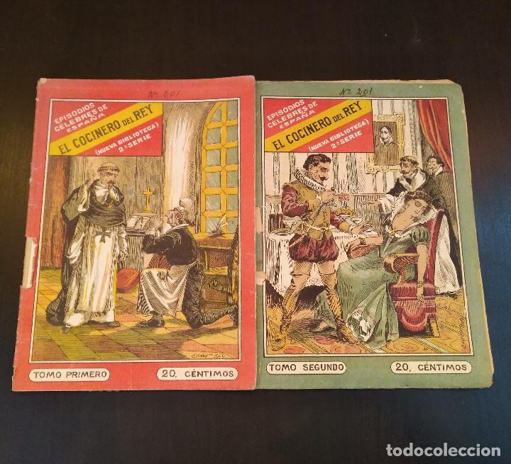 Libros antiguos: El Cocinero del Rey. Episodios Célebres de España. 2 Tomos. Completo. Muy Raro - Foto 2 - 165414682