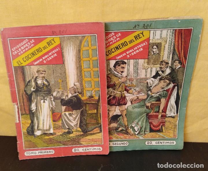 Libros antiguos: El Cocinero del Rey. Episodios Célebres de España. 2 Tomos. Completo. Muy Raro - Foto 3 - 165414682