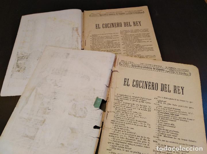 Libros antiguos: El Cocinero del Rey. Episodios Célebres de España. 2 Tomos. Completo. Muy Raro - Foto 4 - 165414682