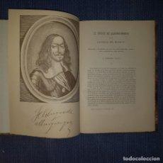 Libros antiguos: FERNÁNDEZ DURO: DON FRANCISCO FERNÁNDEZ DE LA CUEVA, DUQUE DE ALBURQUERQUE - NUEVA ESPAÑA-. Lote 166476446