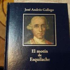 Libros antiguos: JOSÉ ANDRÉS GALLEGO. EL MOTÍN DE ESQUILACHE. Lote 166730230