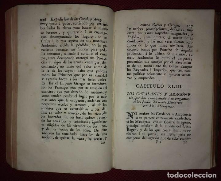Libros antiguos: 1777 Expedición de los Catalanes y Aragoneses contra Turcos y Griegos + grabado de Fco. de Montcada - Foto 3 - 168469828