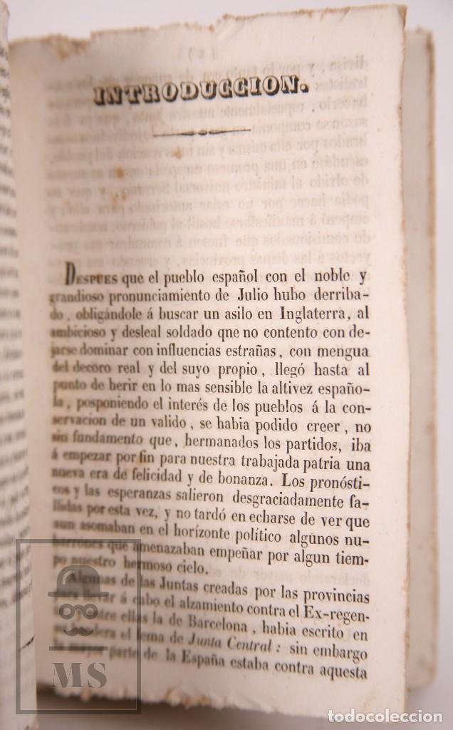 Libros antiguos: Antiguo Libro Revolución de Barcelona. Acontecimientos Septiembre 1843 - Manuel Saurí, 1844 - Foto 2 - 168575296