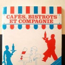 Libri antichi: CAFÉS, BISTROTS ET COMPAGNIE - EXPOSITION ITINÉRANTE CATALOGO BARES. Lote 169116208