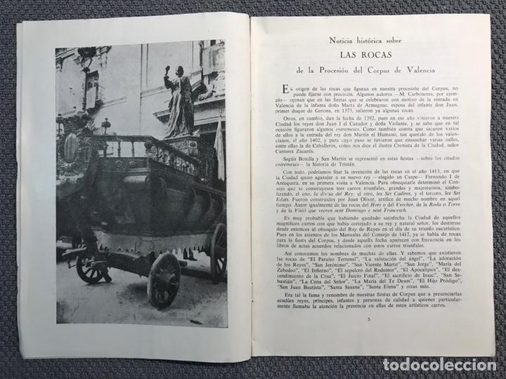Libros antiguos: LAS ROCAS. Valencia por, Vicente Ferrer Olmo. Libro Las Rocas de la Procesión del Corpus..(a.1962) - Foto 3 - 170379512