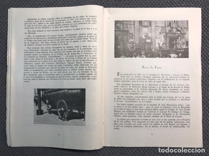 Libros antiguos: LAS ROCAS. Valencia por, Vicente Ferrer Olmo. Libro Las Rocas de la Procesión del Corpus..(a.1962) - Foto 4 - 170379512