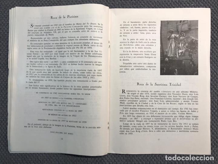 Libros antiguos: LAS ROCAS. Valencia por, Vicente Ferrer Olmo. Libro Las Rocas de la Procesión del Corpus..(a.1962) - Foto 5 - 170379512