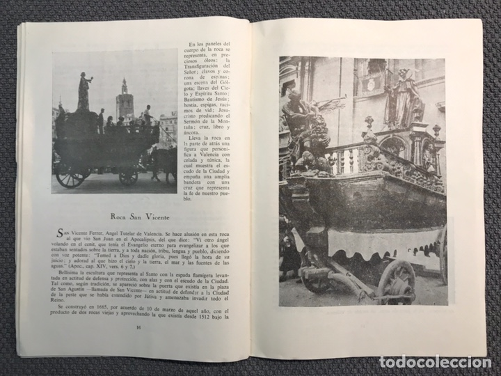 Libros antiguos: LAS ROCAS. Valencia por, Vicente Ferrer Olmo. Libro Las Rocas de la Procesión del Corpus..(a.1962) - Foto 6 - 170379512