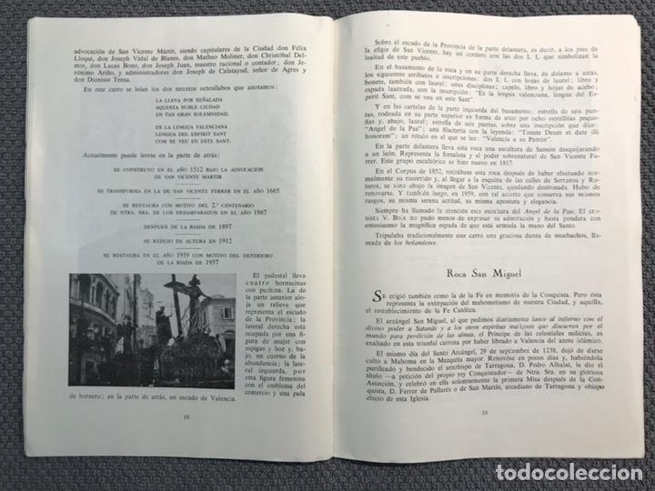 Libros antiguos: LAS ROCAS. Valencia por, Vicente Ferrer Olmo. Libro Las Rocas de la Procesión del Corpus..(a.1962) - Foto 7 - 170379512