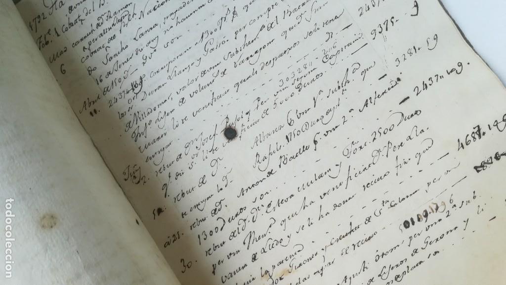 Libros antiguos: Libro de cuentas Francisco Martí, siglo XVIII, Cataluña. Ejército, Batallón Tarragona y Gerona. - Foto 3 - 170505092