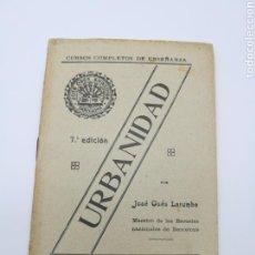 Libros antiguos: URBANIDAD. Lote 171375337
