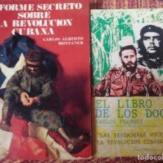 Libros antiguos: LOTE 2 LIBROS SOBRE LA REVOLUCIÓN CUBANA.. Lote 171845003