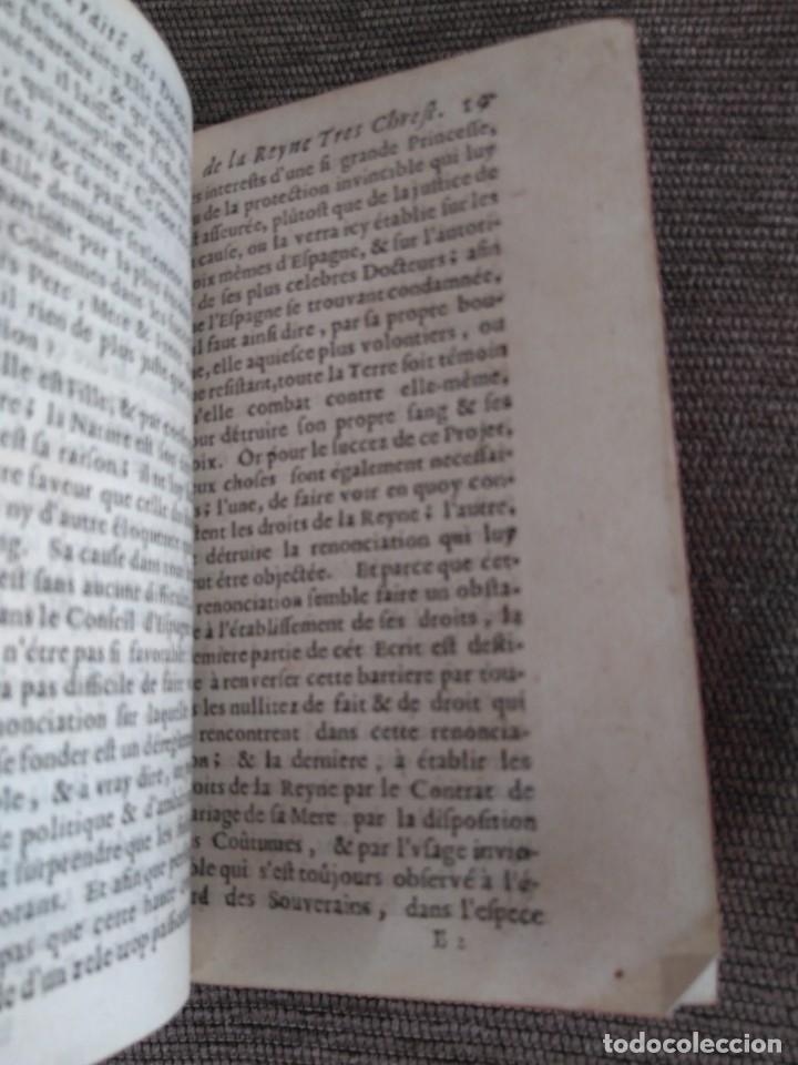 Libros antiguos: 1667. Tratado de la reina cristianisima sobre diversos estados del reino de España. Antoine Bilain. - Foto 3 - 172303424