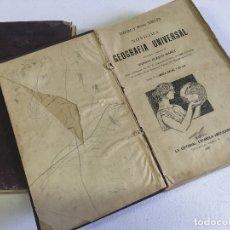 Libros antiguos: NOVÍSIMA GEOGRAFÍA UNIVERSAL. TRADUCCIÓN Y PRÓLOGO DE VICENTE BLASCO IBÁÑEZ. 2 TOMOS. Lote 173761453