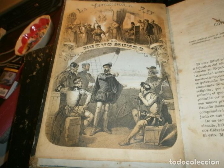 LA INQUISICIÓN, EL REY Y EL NUEVO MUNDO 2 TOMOS FLORENCIO LUIS PARREÑO - MADRID 1862 MEDIDA 23,5X16 (Libros antiguos (hasta 1936), raros y curiosos - Historia Moderna)
