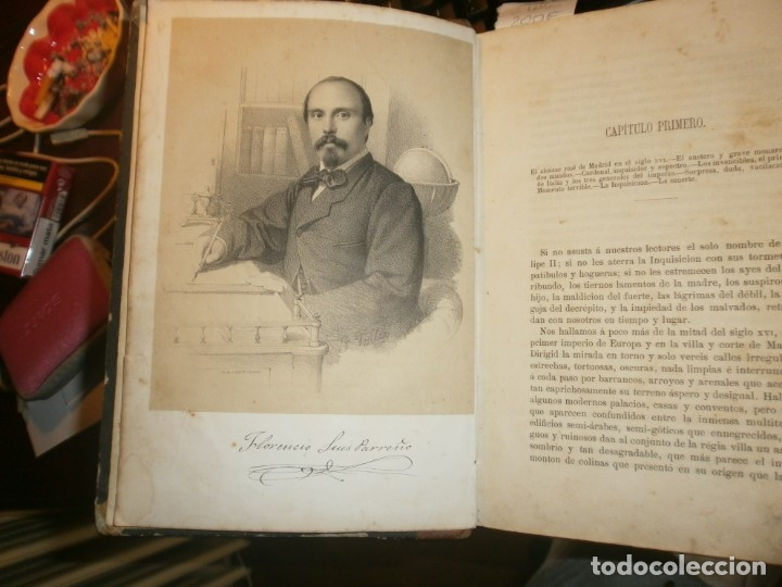 Libros antiguos: La inquisición, el Rey y el nuevo mundo 2 tomos Florencio Luis Parreño - Madrid 1862 medida 23,5X16 - Foto 5 - 173785059