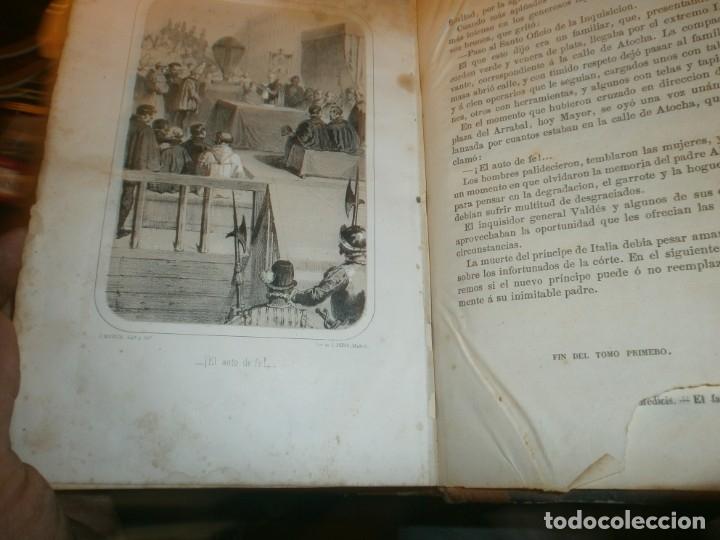 Libros antiguos: La inquisición, el Rey y el nuevo mundo 2 tomos Florencio Luis Parreño - Madrid 1862 medida 23,5X16 - Foto 8 - 173785059