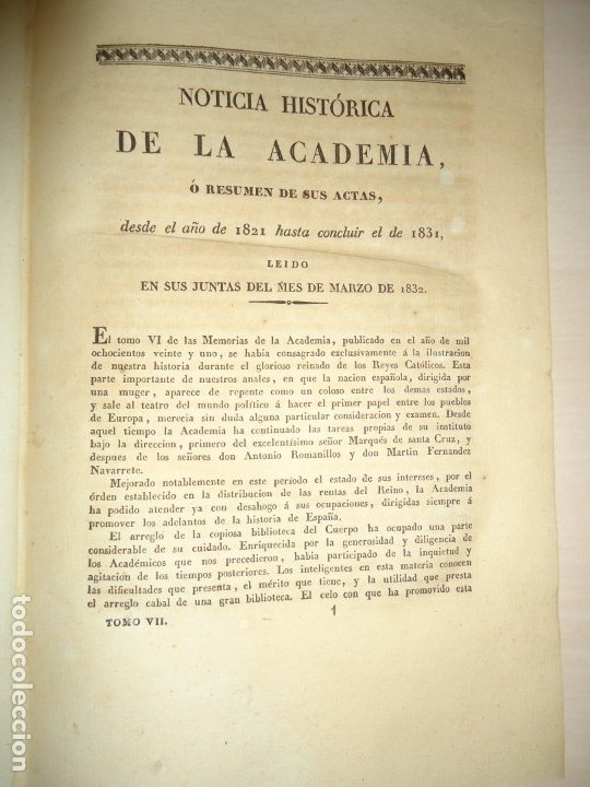 Libros antiguos: PLATO DE OTAÑEZ - BROCAL DE TRIGUEROS - PEDESTAL DE GUADIX. ACADEMIA DE LA HISTORIA 1832 - Foto 4 - 174103433