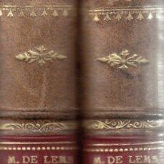 Libros antiguos: MARQUES DE LEMA. DE LA REVOLUCIÓN A LA RESTAURACIÓN. 2 VOLS. MADRID, EDITORIAL VOLUNTAD, 1927.. Lote 174336045
