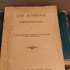 Libros antiguos: SANTANDER 1928 - GENEALOGIA - LOS ACEBEDOS - MANUSCRITO INÉDITO POR MATEO ESCAGEDO SALMON - . Lote 175056754