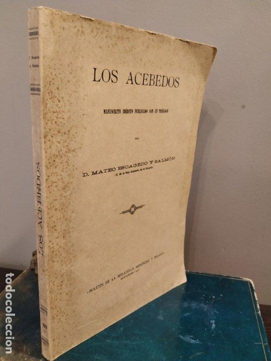 Libros antiguos: SANTANDER 1928 - GENEALOGIA - LOS ACEBEDOS - MANUSCRITO INÉDITO POR MATEO ESCAGEDO SALMON - - Foto 2 - 175056754