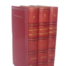 Libros antiguos: 1842 - HISTORIA DE INGLATERRA - EDAD ANTIGUA, MEDIEVAL Y MODERNA - 3 TOMOS DEL SIGLO XIX - PIEL. Lote 175894494
