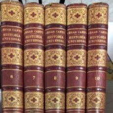 Libros antiguos: HISTORIA UNIVERSAL. CESAR CANTU. NUEVA EDICION. LIBRERIA DE GARNIER HERMANOS. PARIS, 1884.VER Y LEER. Lote 177386665