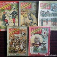 Libros antiguos: EPISODIOS CÉLEBRES DE ESPAÑA (4 TOMOS) + GRANDES CONQUISTADORES (CRISTÓBAL COLÓN). Lote 178038523