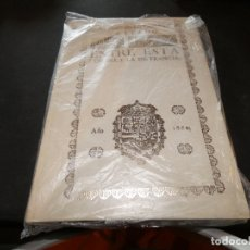 Libros antiguos: FACSIMIL TRATADO DE PAZ ENTRE ESTA CORONA Y LA DE FRANCIA PESA 450 GR ORIGINAL DE 1660. Lote 178840516