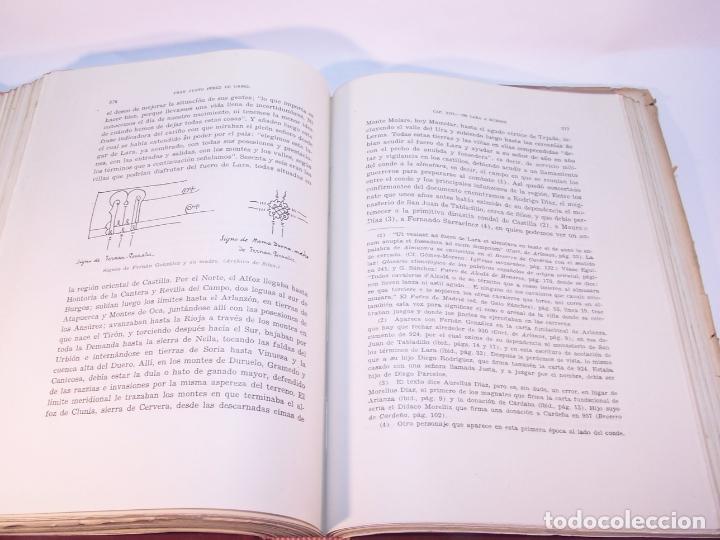 Libros antiguos: Historia del condado de Castilla. Fray Justo Pérez de Urbel. Firmado y dedicado. 3 tomos. 1944. - Foto 9 - 178907932