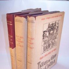 Libros antiguos: HISTORIA DEL CONDADO DE CASTILLA. FRAY JUSTO PÉREZ DE URBEL. FIRMADO Y DEDICADO. 3 TOMOS. 1944.. Lote 178907932