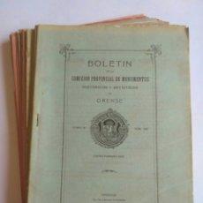 Libros antiguos: 18 BOLETINES COMISIÓN PROVINCIAL DE MONUMENTOS DE ORENSE. 1930 - 32, 3 AÑOS COMPLETOS. GALICIA.. Lote 180162916