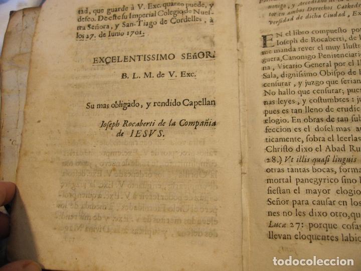Libros antiguos: ROCABERTI, Joseph. CARLOS II. LAGRIMAS AMANTES DE LA EXCELENTISSIMA CIUDAD DE BARCELONA, 1701 - Foto 2 - 182082126