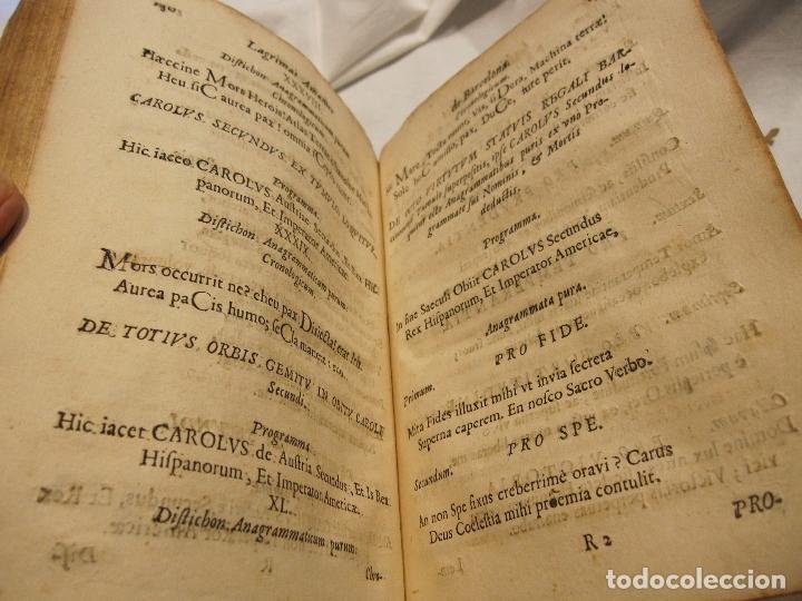Libros antiguos: ROCABERTI, Joseph. CARLOS II. LAGRIMAS AMANTES DE LA EXCELENTISSIMA CIUDAD DE BARCELONA, 1701 - Foto 4 - 182082126