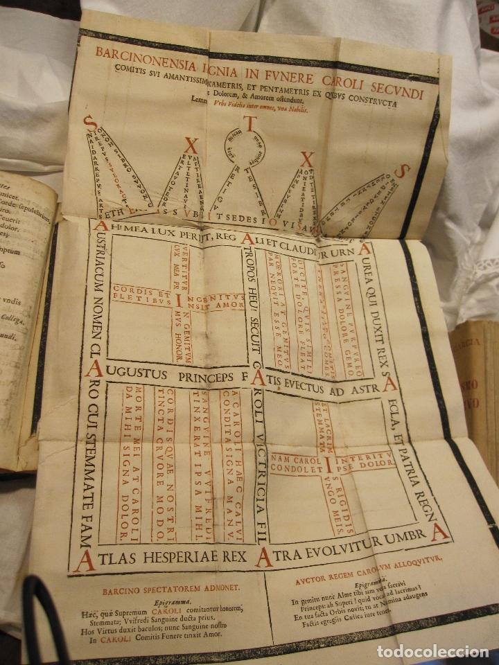 Libros antiguos: ROCABERTI, Joseph. CARLOS II. LAGRIMAS AMANTES DE LA EXCELENTISSIMA CIUDAD DE BARCELONA, 1701 - Foto 8 - 182082126