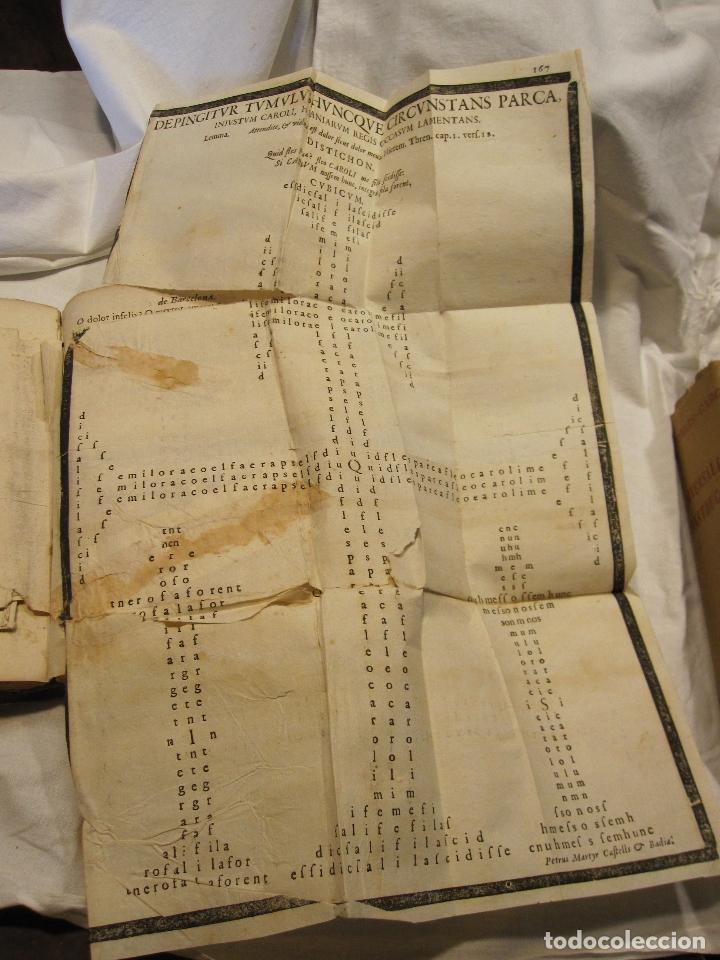 Libros antiguos: ROCABERTI, Joseph. CARLOS II. LAGRIMAS AMANTES DE LA EXCELENTISSIMA CIUDAD DE BARCELONA, 1701 - Foto 11 - 182082126