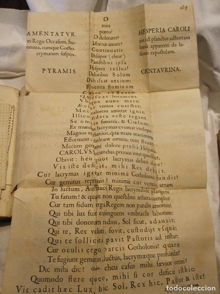 Libros antiguos: ROCABERTI, Joseph. CARLOS II. LAGRIMAS AMANTES DE LA EXCELENTISSIMA CIUDAD DE BARCELONA, 1701 - Foto 13 - 182082126