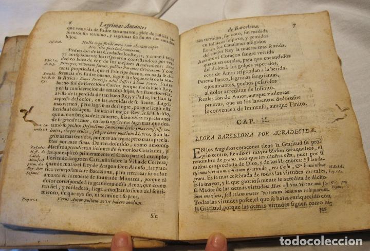 Libros antiguos: ROCABERTI, Joseph. CARLOS II. LAGRIMAS AMANTES DE LA EXCELENTISSIMA CIUDAD DE BARCELONA, 1701 - Foto 18 - 182082126