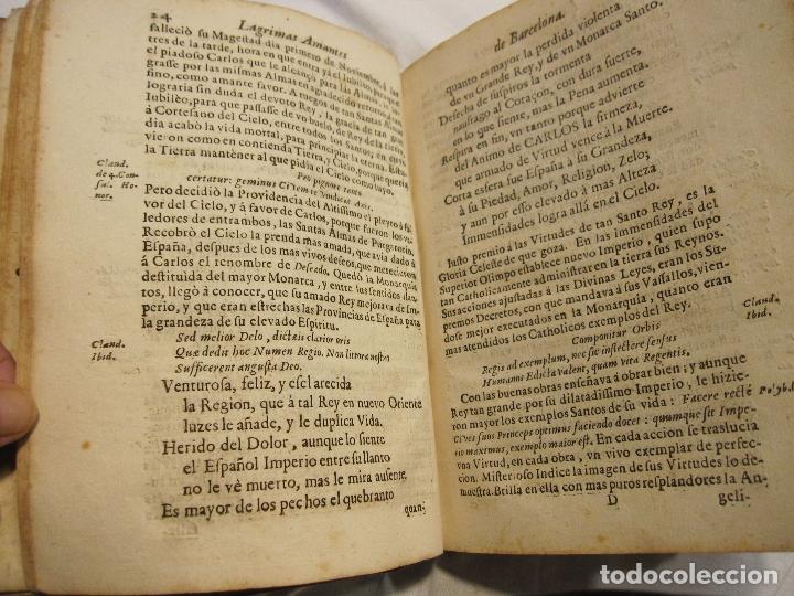 Libros antiguos: ROCABERTI, Joseph. CARLOS II. LAGRIMAS AMANTES DE LA EXCELENTISSIMA CIUDAD DE BARCELONA, 1701 - Foto 20 - 182082126