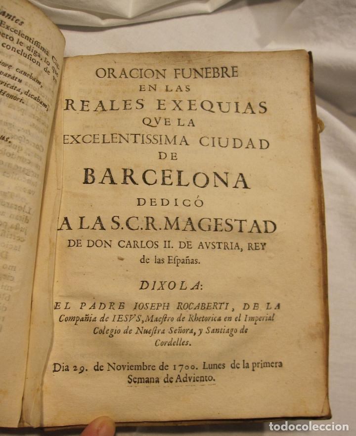 Libros antiguos: ROCABERTI, Joseph. CARLOS II. LAGRIMAS AMANTES DE LA EXCELENTISSIMA CIUDAD DE BARCELONA, 1701 - Foto 21 - 182082126