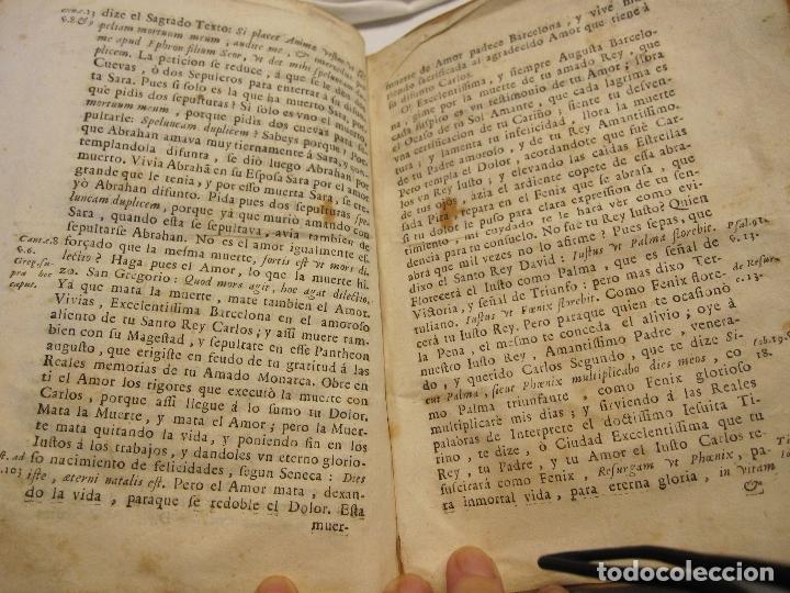 Libros antiguos: ROCABERTI, Joseph. CARLOS II. LAGRIMAS AMANTES DE LA EXCELENTISSIMA CIUDAD DE BARCELONA, 1701 - Foto 25 - 182082126