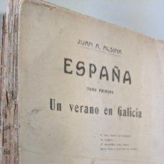 Libros antiguos: UN VERANO EN GALICIA - JUAN A.ALSINA - 1913 - ORIGINAL. Lote 182165577