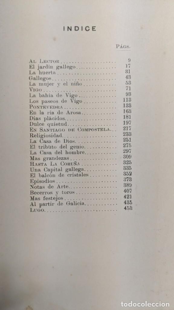 Libros antiguos: UN VERANO EN GALICIA - JUAN A.ALSINA - 1913 - ORIGINAL - Foto 2 - 182165577