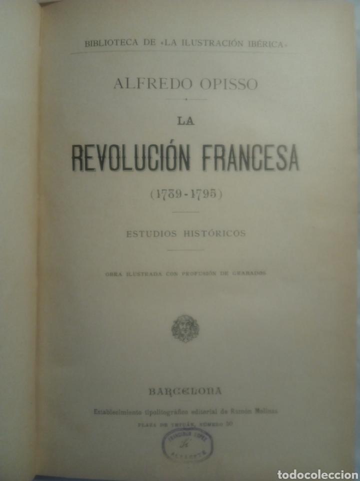 Libros antiguos: La Revolución Francesa, Alfredo Opiso - Foto 5 - 182680613