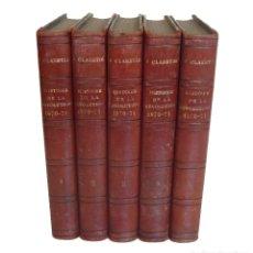 Libri antichi: 1875 - HISTORIA DE LA GUERRA FRANCO-PRUSIANA DE 1870-1871 - 5 TOMOS ILUSTRADOS CON GRABADOS - S. XIX. Lote 183339028