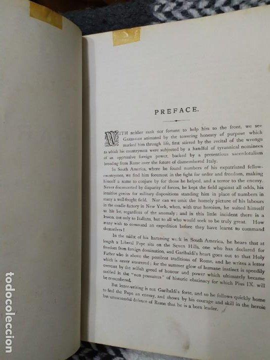 Libros antiguos: 1880. Historia de Garibaldi. Héroe y patriota italiano. - Foto 3 - 183630426