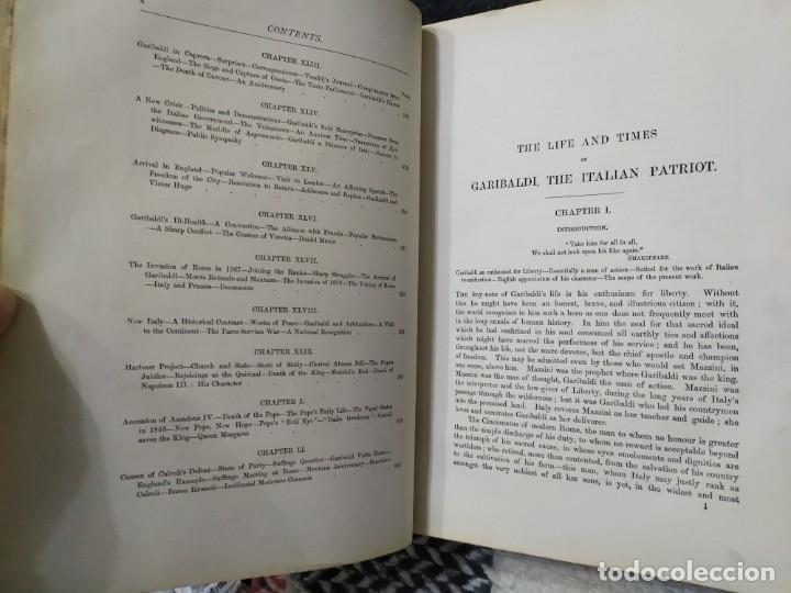 Libros antiguos: 1880. Historia de Garibaldi. Héroe y patriota italiano. - Foto 7 - 183630426