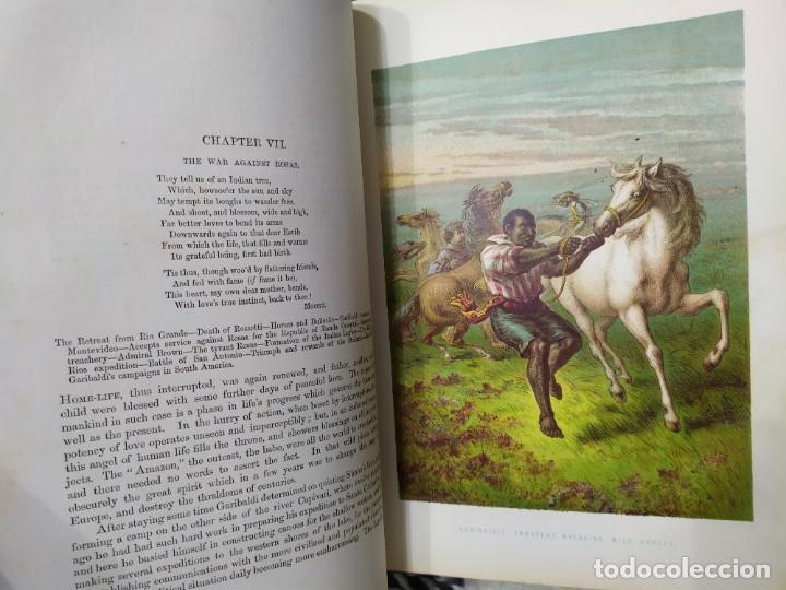 Libros antiguos: 1880. Historia de Garibaldi. Héroe y patriota italiano. - Foto 9 - 183630426