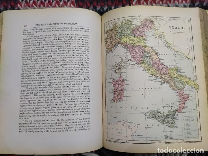 Libros antiguos: 1880. Historia de Garibaldi. Héroe y patriota italiano. - Foto 17 - 183630426